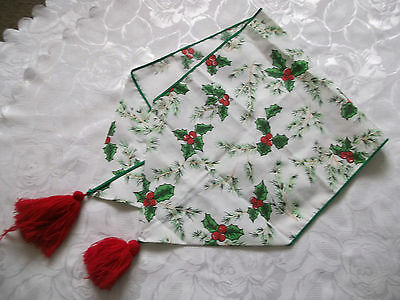 Vintage Cotton Christmas Table Runner