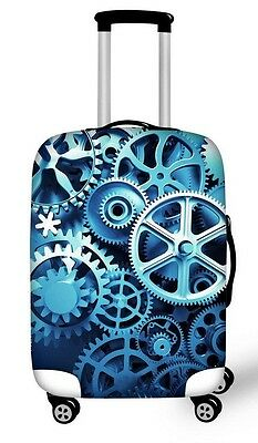 Dust-proof Luggage Suitcase Protector COVER BLUE GEAR