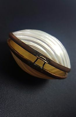 Antique Shell Mother of Pearl Thimble Case circa 1900s