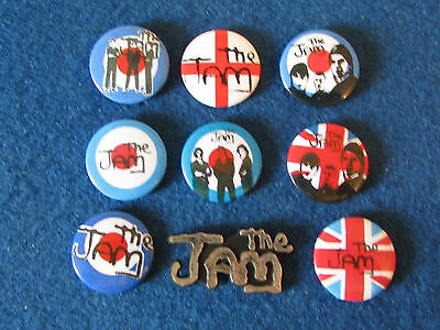 Lot of 9 Button Badges - The Jam