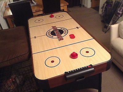 Air Hockey Table Game Folding With Air Fan Ideal For Kids Holidays Or Man Cave