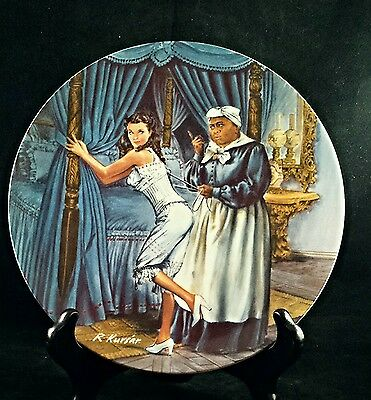 KNOWLES Gone with the Wind  Hand Painted Plate Mammy Lacing Scarlett C309 USA
