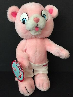 """Mighty Star Pink Panther and Sons Panky Plush Doll Vtg 1984 10.5"""" W/ Tag"""