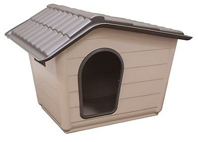 Dog Kennel Hygienic Plastic Indoor Outdoor Shelter Weather-proof Home Warm Pet