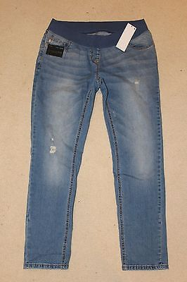 ~NEXT~Stunning Ladies Denim Cigarette Maternity Jeans~Size 12~New with Tags
