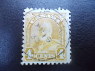 Canada KGV, 1928 to 1929,4 cent h/v,used.