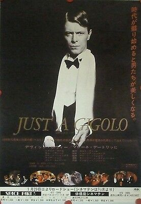 "DAVID BOWIE ""Just A Gigolo"" (1978)  original Japanese cinema poster"