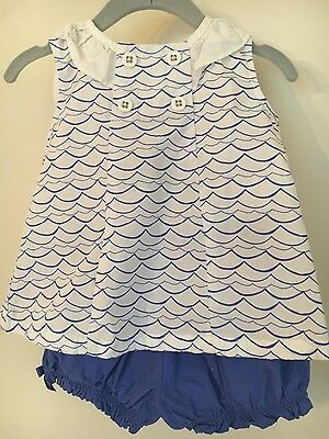 Gymboree 18-24 months blue one waves set with shorts girls baby