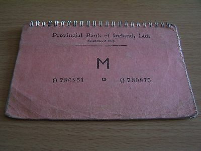 Vintage Provincial Bank of Ireland Used Cheque Book St Stephens Green Dublin
