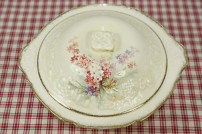 Crown Ducal Florentine PICARDY Round Covered Vegetable Bowl Casserole EXC!  (B1)