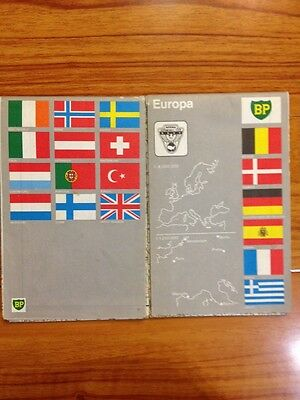 1 Of 2 VTG 1971 EUROPE BP Oil Company Road Map EUROPA Map NAC Large 30x45 2 Side