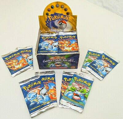 1pc one Original 1999 Pokemon Base Set Booster Pack TCG WoTC Factory SEALED
