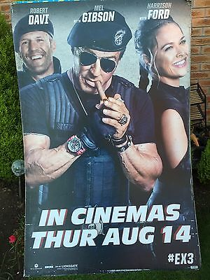 The Expendables 3 Bus Poster 180cm High 117cm Wide RARE !!!!!!
