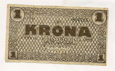 1 rare old Banknote from Iceland!