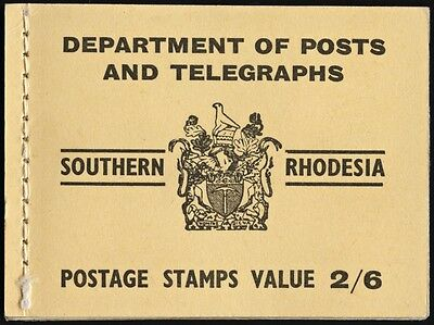 Southern Rhodesia Complete Booklet SG #SB5 1954 RARE! Incl. 6 Blocks of 4 stamps
