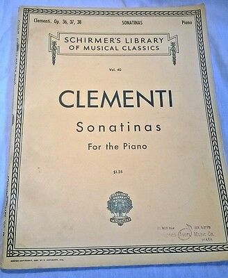 Clementi Op 36, 37, 38 Sonatinas For Piano (Schirmer's Library of Music Classics