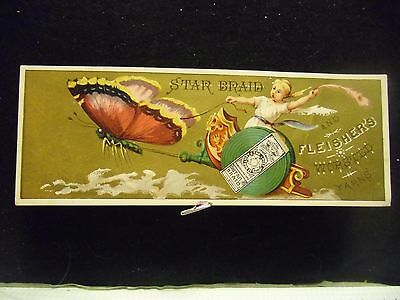 victorian trade card # 6490 STAR BRAID - THE CHARIOT - BOOK MARK