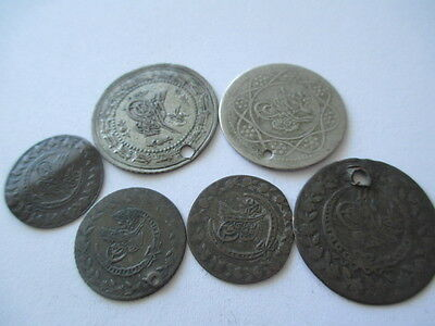Turkey Ottoman Empire LOT 7 coins Silver