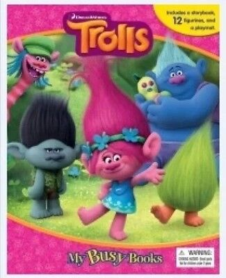 Dreamworks Trolls My Busy Books With 12 Character Figures+ Playmat