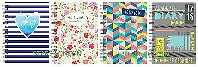 2017 2018 A5 Academic Week to View Diary Spiral PVC Cover Mid Year school diary