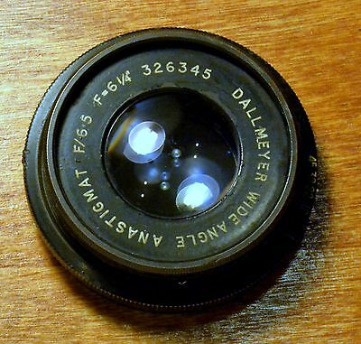 Dallmeyer Wide Angle Anastigmat f/6.5  8X10 Lens mounted on new packard shutter