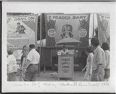 2 SIGNED Vintage Sideshow Photos, Circus, RENA SMALL Bobby Reynolds Midway