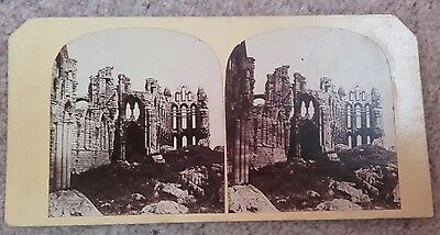 Stereoview of Whitby Abbey from West