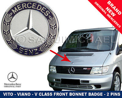 Mercedes Vito-V Class Front Bonnet Badge Flat Style 2 Pins New A6388170116