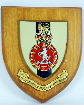 The Queen's Own Royal West Kent Regiment Wall Plaque / Shield ~ (Ref:1)