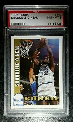 ☆ 1992-93 NBA Hoops Shaquille O'Neal Rookie Basketball Card PSA Graded ☆