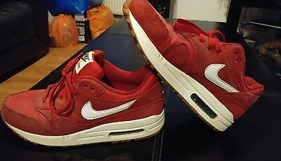 Size UK 5.5 Junior Unisex Nike Air Max Red Suede Trainers