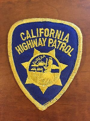 VINTAGE - California Highway Patrol CA State Police Patch  CHiPs CHP Eureka Cops