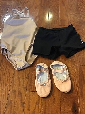 Miscellaneous Toddler Girl Dance Wear Leotard Bloch Ballet Shoes Size 10B Shorts