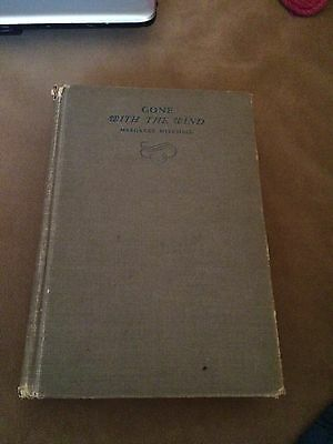 Gone With The Wind June 1936 Edition Hardcover Book