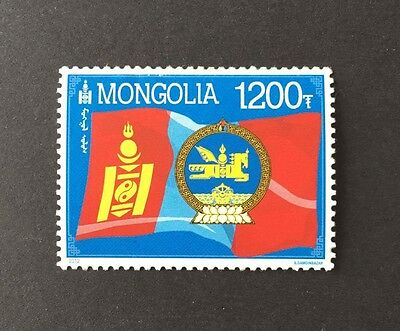 "Mongolia 2012 "" Mongolian national emblem and flag """
