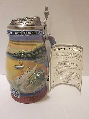 Large Mouth Bass Stein 1st Issue National Fresh Water Fishing Hall of Fame