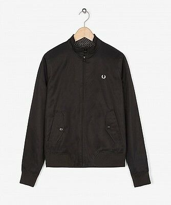 Fred Perry Jacket Harrington Bomber Chaqueta Black Negro size eur 40