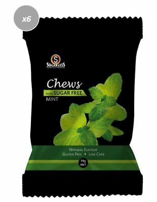 901889 4 x 70g BAGS OF CHEWS MINT - 99.8% SUGAR FREE AND GLUTEN FREE