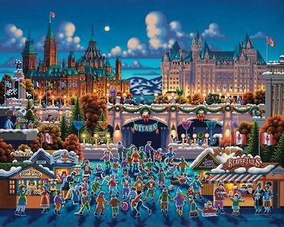 Dowdle Folk Art Collectors Jigsaw Puzzle Ottawa 1000 Pieces