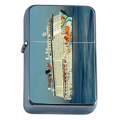 Vintage Cruise Ship D10 Windproof Dual Flame Torch Lighter Refillable