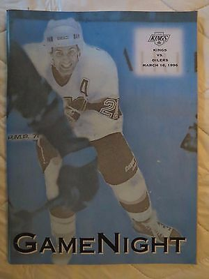 1996 Los Angeles Kings vs Edmonton Oilers NHL program