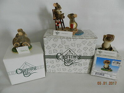 Charming Tails Figurines, Fitz & Floyd ~ Lot of 3 #83/104, 89/118, 97/724