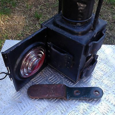 Vintage Railway Railroad Signal Lamp with Bracket
