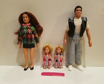 Full House Dolls Jesse's Family Set Loose Complete 1993 Tiger TGIF John Stamos