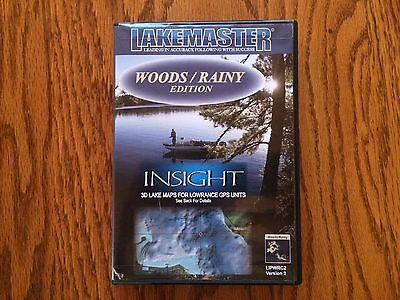Lakemaster Insight WOODS/RAINY sd/micro chip map card for Lowrance HDS units