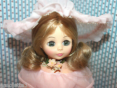 "14"" Horsman Dolls 1979/pretty dress hat shoes flower/sleep eyes/southern belle"
