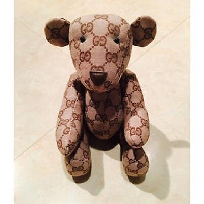 Gucci  Teddy Bear  Brown  Authentic Plush Stuffed Toy Cute Rare Italy
