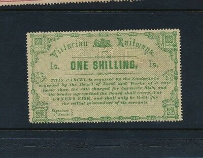 VICTORIA RAILWAY 1879 Large Format 1/- green MINT og rated R2 in IPC catalog
