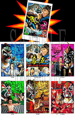 Five Deadly Venoms - The Complete Set of Art Prints Shaw Brothers kung fu