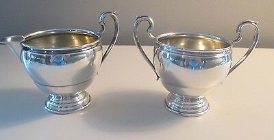 Vintage International BERKELEY Sterling Silver Creamer and Sugar